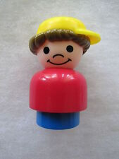 RETRO Fisher Price Little People CHUNKY SON BOY in CAP 50th Anniversary Edition