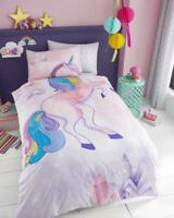 New Unicorn Luxury Duvet Cover Sets Reversible Bedding Sets /Fitted Sheet Set GC