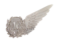 Air Gunner Royal Air Force RAF MOD Single Wing Nickel Pin Badge / Brevet