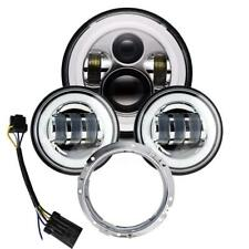 """7"""" LED Headlight + Passing Lamps for Harley Fatboy Heritage Softail Deluxe FLST"""