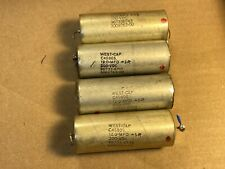4 Vintage 12 uf 200v West-Cap Vitamin Q Crossover Capacitors