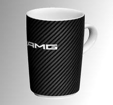 Orig.Mercedes-Benz AMG Kaffeetasse Becher Carbon Optik Porzellan Geschenk NEU