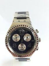 SWATCH Men's Watch Irony Chrono SECRET THOUGHT AUBERGINE Stainless Steel YCS573G