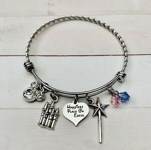Disneyland Inspired Happiest Place On Earth Charm Bracelet Stainless Steel