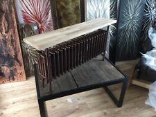 Column Radiator Hammered Copper With Oak Bench 550/1150/240 3300 BTU