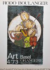 Rodo Boulanger/ Lithografie/ Art Basel Orangerie/ mit Prägedruck/signiert /1973