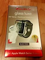 ZAGG Invisible Shield Glass Apple Watch Series 1 Glass Luxe Black 38mm OPEN BOX