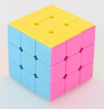 New 3x3x3 Magic Speed Cube Puzzle Brain Teaser Stickerless Smooth Twist Toy