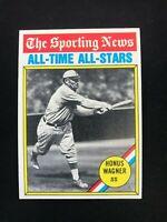 1976 Topps #344 Honus Wagner Vintage Baseball Card All-Time All-Star~MINT
