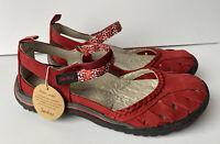 JBU Jambu Red Wildflower Memory Foam Mary Jane Shoe 6M Sandal NEW