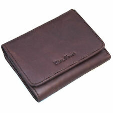 Men's Trifold Genuine Leather Wallet Credit Card Holders Coin Pocket Purse