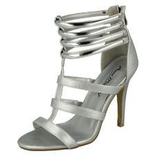 Zip Open Toe Stiletto Heels for Women