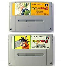 Lot 2x jeux DRAGON BALL Z (JAP) / great games for Super Famicom Nintendo SNES