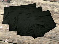 3-pack NEW Maidenform Dream Cotton Boyshort Panties DM0002 - BLACK 7/L Large