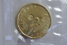 2014 Canada Lucky Loonie Olympics $1 loonie BU from set in  orig pliofilm