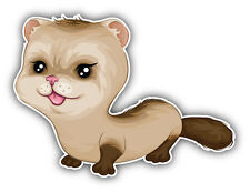 Baby Ferret Car Bumper Sticker Decal 5'' x 4''