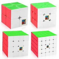 Moyu Speed Cube Bundle 2x2 3x3 4x4 5x5, Mofangjiaoshi Magic Teaser Stickerless