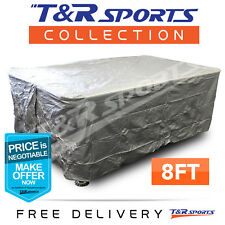 8FT Full Length HEAVY DUTY Pool Snooker Billiard Table Cover Grey FREE POST