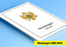 COLOR PRINTED MONTENEGRO 2003-2010 STAMP ALBUM PAGES (24 illustrated pages)