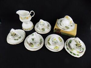 Freya: Pretty 20 Piece Vintage China Shabby Chic Mismatch Tea Set