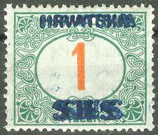 Yugoslavia SHS Croatia 1918, 1fil. Postage Due Double Overprint, MH