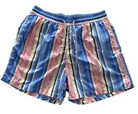 NEW, VILEBREQUIN MEN'S STRIPED TURTLE PRINT SWIM SHORTS, XXL, $350