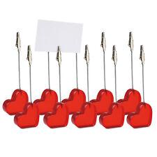 en forme de cœur Bureau Clip Paquet 10, carte, Support PHOTO - Saint-Valentin