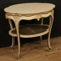Tavolino in legno laccato tavolo da salotto italiano mobile stile antico 900