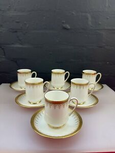 6 x Paragon / Royal Albert Athena Coffee Cups and Saucers Last Set Available