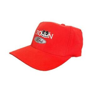 Vintage 90s Ford Red Fitted Hat Crown Ford Flexfit