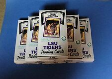 """(6) 1990 COLLEGIATE COLLECTION LSU TIGERS """"ALL-TIME GREATS"""" FIRST EDITION BOXES"""