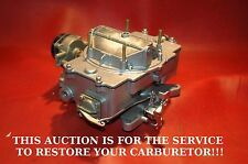 1958-67 **YOUR** FORD/MOTORCRAFT 4100 SERIES 4 BARREL CARBURETOR CUSTOM RESTORED