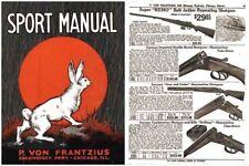 Von Frantzius, P c1928 Gun and Sport Catalog- Chicago, Ill.