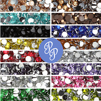 3mm Rhinestone Gem - 20+ Colors - Flatback - Nail Art - Crystal Resin Bead 1000