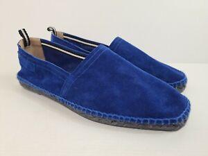 Men's Bally Electric Blue Boat Shoe Espadrille Loafer Size US10 MADE SWITZERLAND