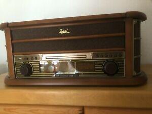 Dual NR 4 Stereo-Nostalgie-Komplettanlage mit Plattenspieler - Braun