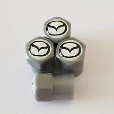 MAZDA WHITE GREY Plastic Wheel Valve Dust caps all models 7 colours CX-3 MX-5 RF