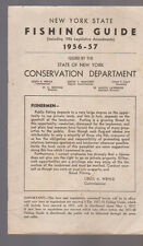 New York State Fishing Guide 1956 1957 Conservation Department