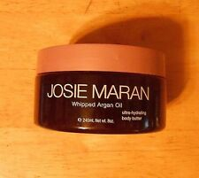 8oz JOSIE MARAN WHIPPED ARGAN OIL white BODY BUTTER vanilla peach UNSEALED