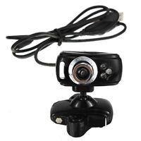USB 80M HD Kamera Webcam mit Mikrofon 3 LEDs fuer PC Desktop Skype GY