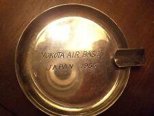 Antique military sterling ash tray 950 SILVER YOKOTA AIR FORCE BASE JAPAN 1956