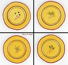 Set of 4 Salad Plates, MINT & NEAR MINT! Portfolio OtO (Ocean to Ocean), POT5