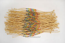 Wholesale lots 100pcs Handmade Rope Crystal Beads manual Weave Bracelets jewelry