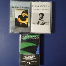 Lot of 3 Soul and R&B Cassettes Aaron Neville Billy Ocean George Benson