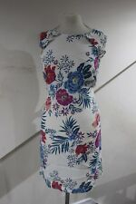 Size 10 beautifull ivory shift dress large floral detail dorothy perkins NEW