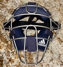 ADIDAS Pro Issue Navy Blue Silver Baseball Softball Umpire Mask NEW Adult OSFA
