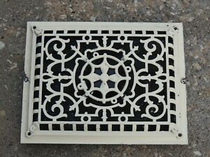 Antique Register Vent Cover W/ Louvers From a Church That is Over 100 Years Old
