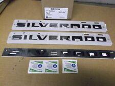 2019 Chevrolet Black Silverado 3 Pc Emblem Kit~84300946~OEM GM~Door~Tailgate~19~