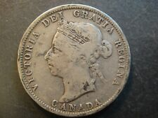 1894 Canada Queen Victoria Sterling Silver 25 Cents. Very Good to Fine.