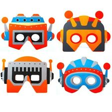 6 x Kids Foam Space Robot Masks - Party bag fillers or Fancy Dress